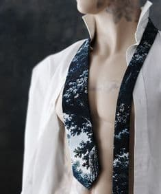 Boho&Co Handmade Trees Two Deep silk tie